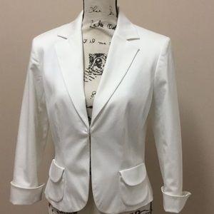 Worthington Stretch white cotton jacket